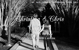 recent project - wedding website